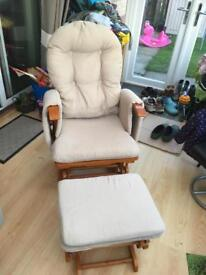 Glider Reclining Rocking Chair and Stool
