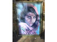 Afghan Girl by Steve McCurry Framed