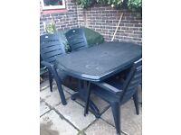 Garden patio table & 4 chairs