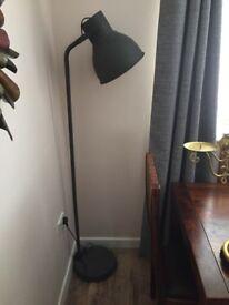 Grey standing lamp