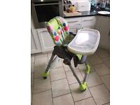 Chicco Polly Double phase high chair and Table