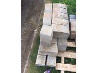 36 Pre-Used Grey Kerb Edging Blocks