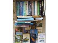 FISHING BOOKS,DVDS COLLECTION,JOB LOT,45 PLUS,TROUT SALMON,MANY UNREAD,HARDBACK PAPERBACK