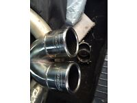 """Piper stainless steel cat back 2.5"""" performance exhaust 1.9 TDI PD130 PD100 Fabia Polo Ibiza milltek"""