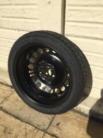 Space saving tyre