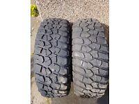 "BF Goodridge MT tyres and 15""Mitsubishi alloys"