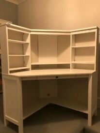 IKEA white corner desk