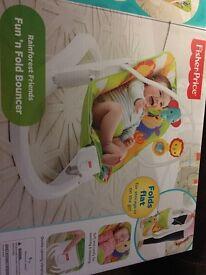 Fisher Price baby fun n fold bouncer chair