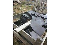 "10""x16"" reclaimed roof slate"