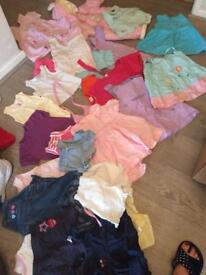 Bundle of baby girl clothes. 0-6