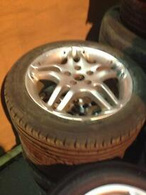 "Momo arrows 16"" alloy wheels Toyota 5 stud celica avensis etc"