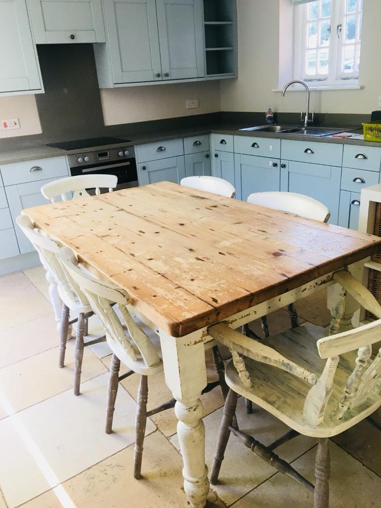 Country shabby chic...farmhouse beautiful Dining Table and ...