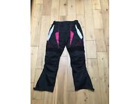 Ladie's textile motorbike jacket and trousers