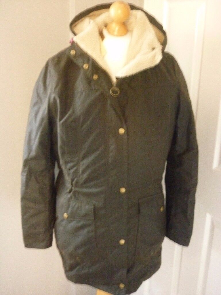 ladies barbour bleaklow wax jacket,new with tags on,size 18.
