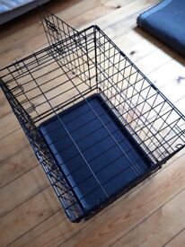 Double-Door Folding Metal Dog Crate - Small