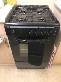 Bush freestanding black gas cooker/oven