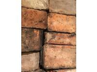 Beautiful vintage Victorian fire bricks paving path