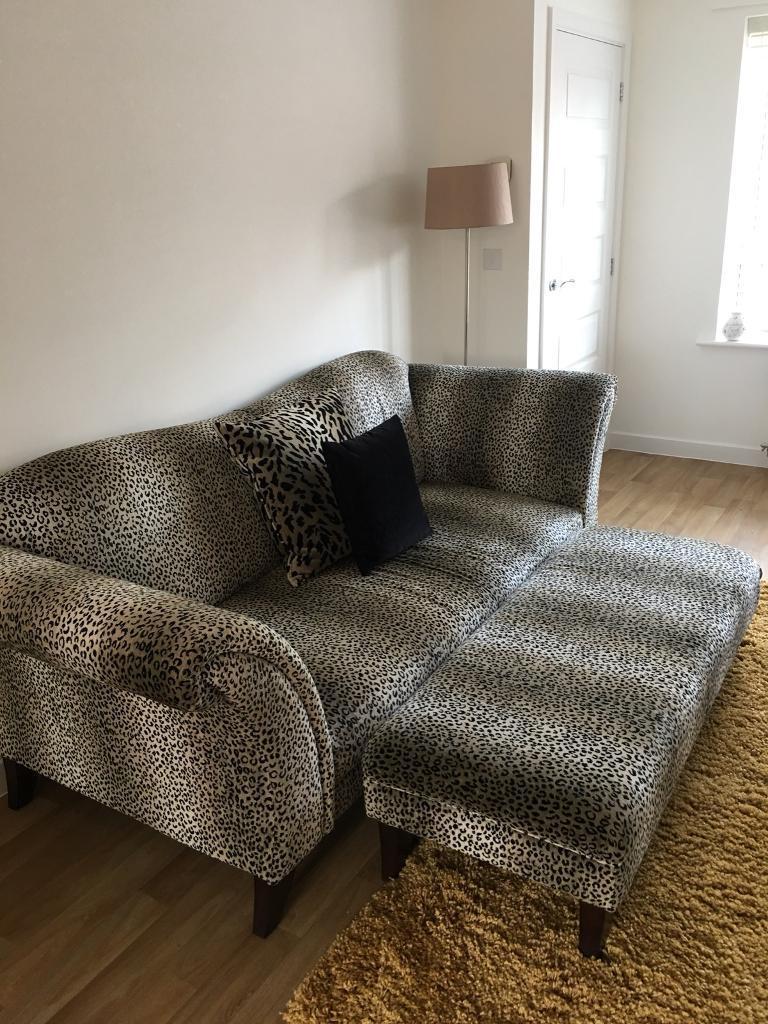 Leopard Print Sofa Foot Stall