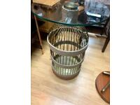 bird cage style lamp table