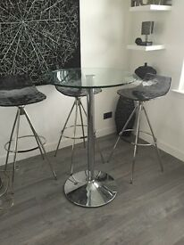 3 stools and bar table