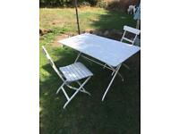 GARDEN TABLE and 2 CHAIRS GOOD QUALITY