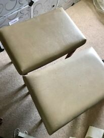FREE 2 x Leather covered stools.