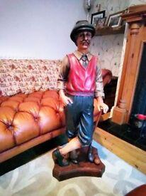 large Victorian golf golfer gentleman statue