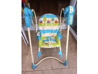 Fisher Price Swing n rocker. Good condition. IP1 area. Can deliver. Genuine interest only please