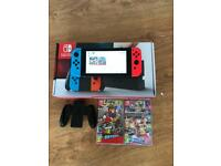 Nintendo switch neon *1 week old* 1 game and receipt