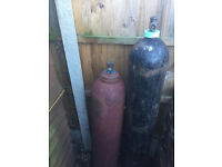oxy acetylene bottles - NO trolly