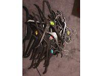 40 Black Hangers