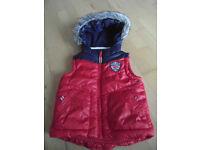 F&F Red&Blue Sleeveless Jacket