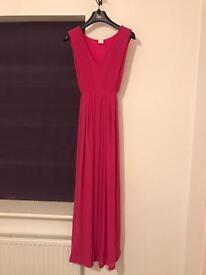 Mamalicious Pink Floor Length Maternity Dress
