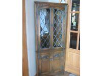 Corner Display Cabinet - Solid Wood - OLD CHARM