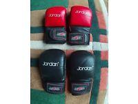 2 Sets Jordan fitness MMA gloves. Excellent condition.