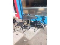 Metal Chairs x 8