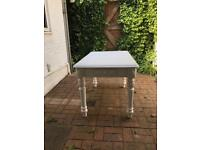 Solid wood white shabby chic table