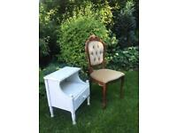 Chair and side table FREE TO COLLECT ASAP