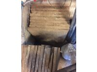 30 used concrete paving slab to collect