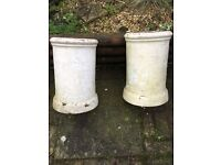 Pair of chimney pots
