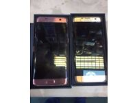 Samsung galaxy s7 edge pink gold and blue colour