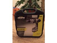 Challenge Xtreme 18v Cordless Hammer Drill w/ original carry case + 9 extra drilling bits