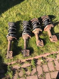 Subaru Impreza WRX STI complete set of shockers with springs (genuine)