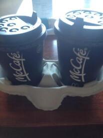 MacD loyalty coffee, tea, latte, capochino, toffee latte