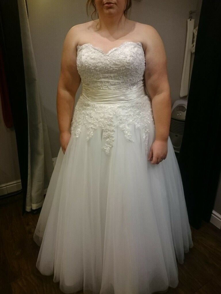 Strapless Corset back size 22 wedding Dress | in Newport Pagnell ...