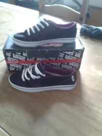 Vans trainers size 4 brand new with box