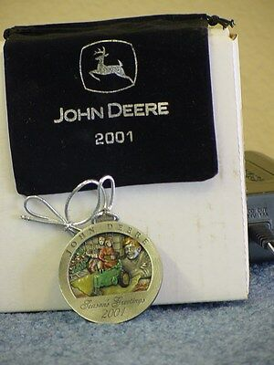 John Deere 2001 Painted Pewter Ornament Painted Pewter Ornament