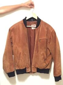 Vintage suede bomber jacket - urban outfitters urban renewal - unisex
