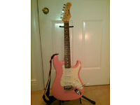 Kids Electric Guitar - Stagg 3/4 size Stratocaster style, Pink - was £129 new