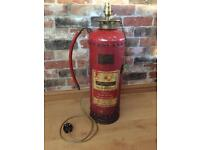 Vintage Dunford Fire Extinguisher Upcycled Lamp Statement Piece Light Feature